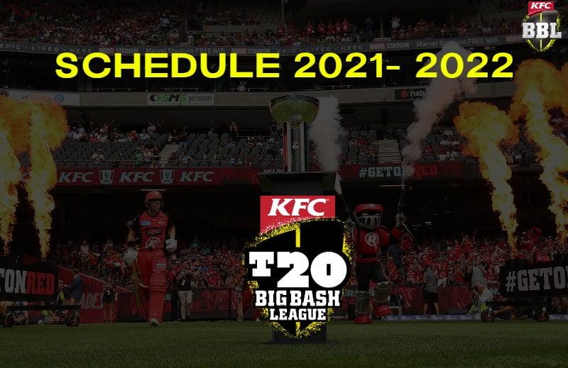 Big Bash League Schedule Download Free PDF