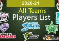 Big Bash League Teams Players List