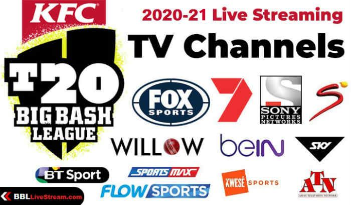 Big Bash Live Streaming TV Channels list