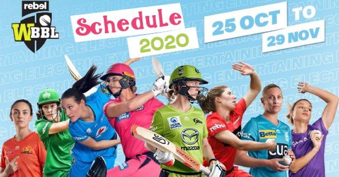 WBBL Schedule 2020 - WBBL06 Fixtures