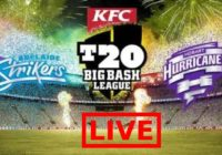 Adelaide Strikers vs Hobart Hurricanes Live Streaming