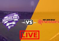 Hobart Hurricanes vs Melbourne Renegades Live Streaming